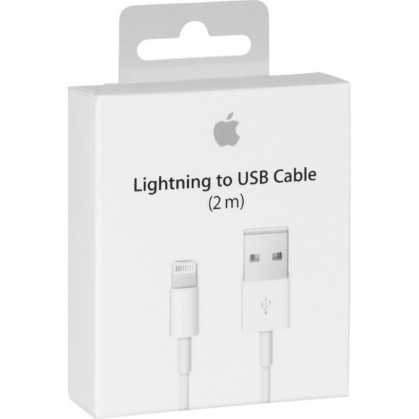 Apple Cable USB to Lightning White 2m ORIGINAL RETAIL BOX (MD819ΖΜ/Α)