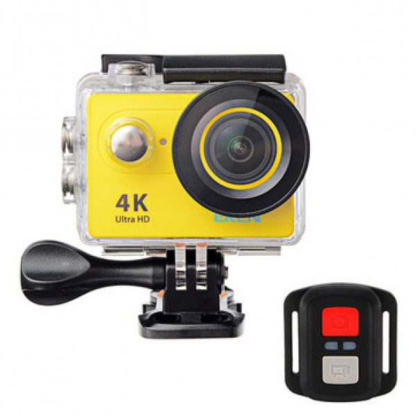 EKEN Action Cam H9R, Ultra HD 4K, 12MP, WiFi, Remote, Waterproof, Yellow ✔ΔΩΡΟ POWER BANK 2600mAh - ΜΕ ΠΙΣΤΩΤΙΚΗ ΣΕ ΕΩΣ 36 ΔΟΣΕΙΣ!!!