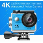 EKEN Action Cam H9R, Ultra HD 4K, 12MP, WiFi, Remote, Waterproof, Blue ✔ΔΩΡΟ POWER BANK 2600mAh