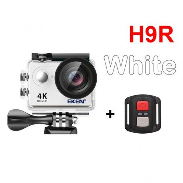 EKEN Action Cam H9R, Ultra HD 4K, 12MP, WiFi, Remote, Waterproof, White ✔ΔΩΡΟ POWER BANK 2600mAh