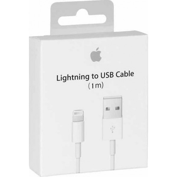 Apple Cable USB to Lightning 1m RETAIL BOX (MD818ΖΜ/Α) ✔Original