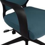 Καρέκλα Γραφείου HM0167.06 Μαύρη / Μπλε Με Μαύρο Πόδι - ΜΕ ΠΙΣΤΩΤΙΚΗ ΣΕ ΕΩΣ 36 ΔΟΣΕΙΣ!!!