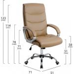 Καρέκλα Γραφείου Διευθυντική HM1087.09 Σε Camel Χρώμα - ΜΕ ΠΙΣΤΩΤΙΚΗ ΣΕ ΕΩΣ 36 ΔΟΣΕΙΣ!!!