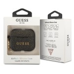 Guess Silicone Case For Airpods Pro With Holder Black (GUACAPSILGLBK)