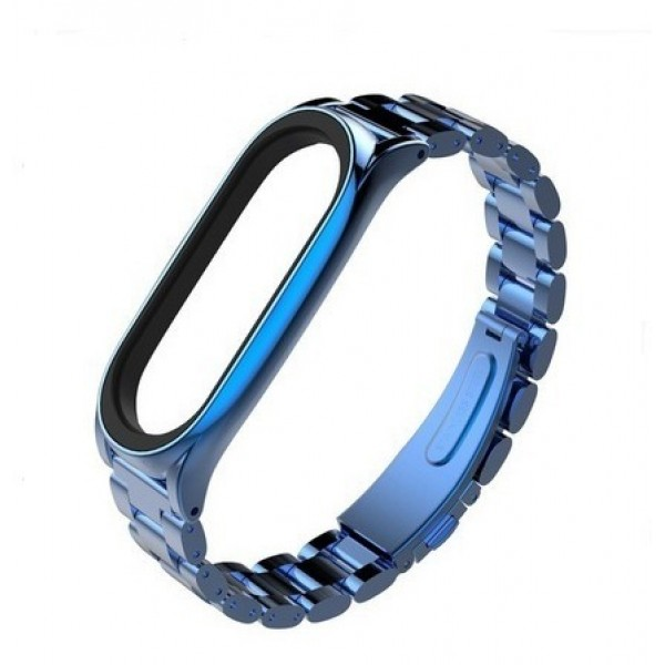 Stainless Steel Mi Band 3/4 Blue