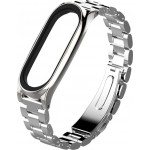 Stainless Steel Mi Band 3/4 Silver