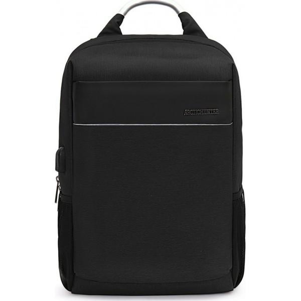 ARCTIC HUNTER B00218-BK Τσάντα Πλάτης Μαύρη Αδιάβροχη Για Laptop & USB - ΜΕ ΠΙΣΤΩΤΙΚΗ ΣΕ ΕΩΣ 36 ΔΟΣΕΙΣ!!!