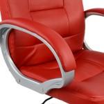 Καρέκλα Γραφείου Διευθυντική HM1024.07 Κόκκινη Με Πόδι Χρωμίου - ΜΕ ΠΙΣΤΩΤΙΚΗ ΣΕ ΕΩΣ 36 ΔΟΣΕΙΣ!!!