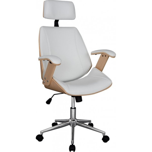 Καρέκλα Γραφείου Διευθυντική Superior Pro HM1109.02 Sonama-Άσπρη - ΜΕ ΠΙΣΤΩΤΙΚΗ ΣΕ ΕΩΣ 36 ΔΟΣΕΙΣ!!!