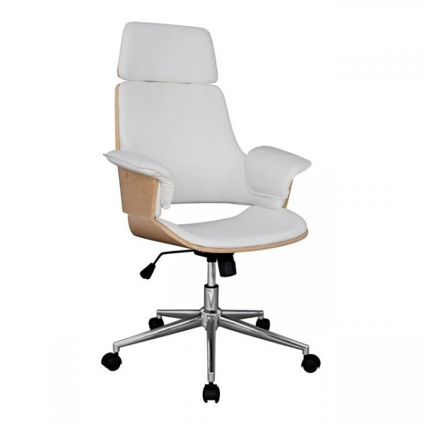 Καρέκλα Γραφείου Διευθυντική Superior Pro HM1110.02 SONAMA - ΑΣΠΡΗ - ΜΕ ΠΙΣΤΩΤΙΚΗ ΣΕ ΕΩΣ 36 ΔΟΣΕΙΣ!!!