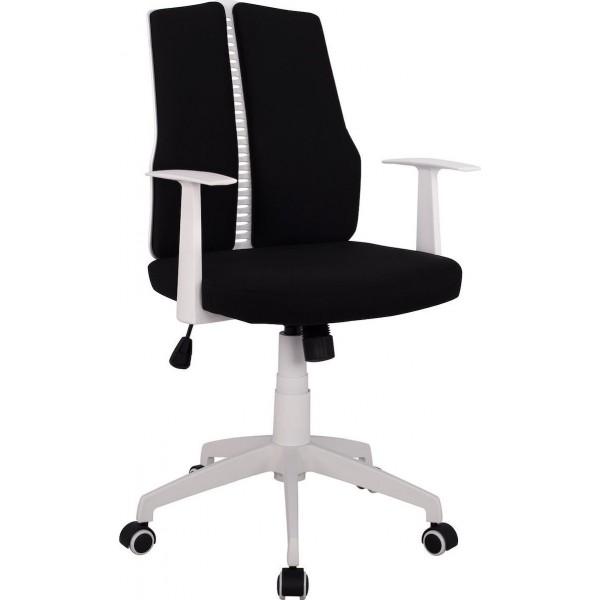 Καρέκλα Γραφείου HM1131.01 Με Μαύρο Ύφασμα Και Λευκό Σκελετό - ΜΕ ΠΙΣΤΩΤΙΚΗ ΣΕ ΕΩΣ 36 ΔΟΣΕΙΣ!!!