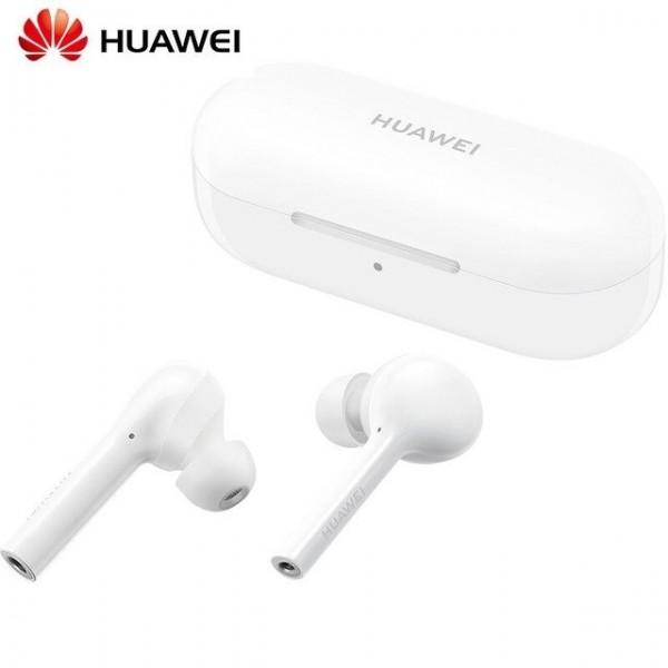 Huawei FreeBuds True Wireless Earphones White + ΔΩΡΟ ΦΟΡΤΙΣΤΗΣ ΑΥΤΟΚΙΝΗΤΟΥ 12V QUICK CHARGE - ΜΕ ΠΙΣΤΩΤΙΚΗ ΣΕ ΕΩΣ 36 ΔΟΣΕΙΣ!!!