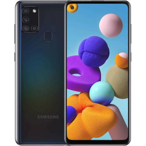 Samsung Galaxy A21s (32GB) Black + Δώρο Tempered Glass full face 9D