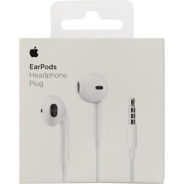 Apple EarPods (MNHF2ZM/A) ✔ORIGINAL RETAIL BOX with 3.5mm Headphone Plug - ΜΕ ΠΙΣΤΩΤΙΚΗ ΣΕ ΕΩΣ 36 ΔΟΣΕΙΣ!!!